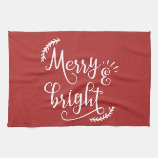Linge De Cuisine joyeuses et lumineuses vacances de Noël