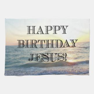 Linge De Cuisine Joyeux anniversaire Jésus au-dessus de l'océan