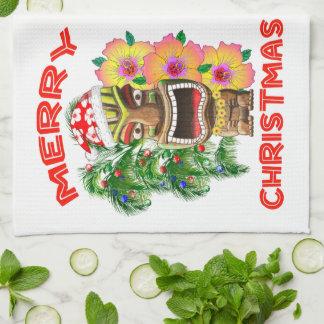 Linge De Cuisine Joyeux Noël Père Noël drôle Tiki