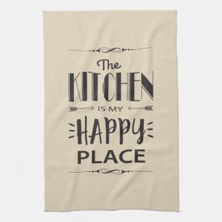 Linge De Cuisine La cuisine est mon endroit heureux