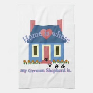 Linge De Cuisine La maison de berger allemand est