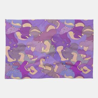 Linge De Cuisine Laughing Hippos - purple