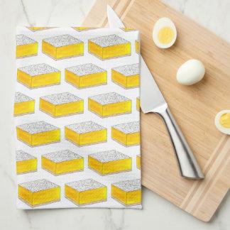 Linge De Cuisine Le dessert de pâtisserie de barre carrée de citron