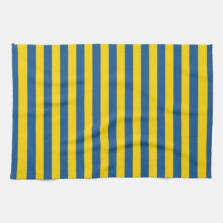 Linge De Cuisine Les lignes de rayures de drapeau de la Suède
