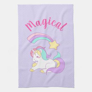 Linge De Cuisine Licorne magique avec l'étoile filante