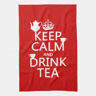 Linge De Cuisine Maintenez thé calme et de boissons - toutes les