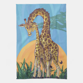 Linge De Cuisine Maman et bébé de girafe