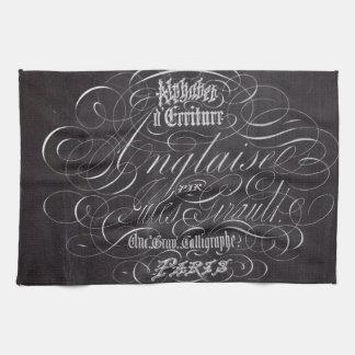 Linge De Cuisine Manuscrits rustiques de Français de tableau de