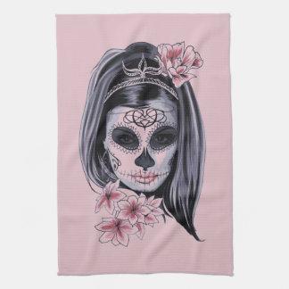 Linge De Cuisine Masque de squelette de femme