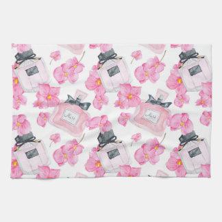 Linge De Cuisine Mode rose Parfume de fleurs