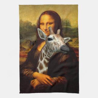 Linge De Cuisine Mona Lisa aime des girafes