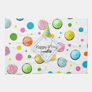 Linge De Cuisine Monogramme de petits gâteaux et de points