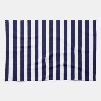 Linge De Cuisine Motif classique de rayure de bleu marine et de