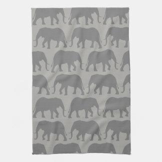 Linge De Cuisine Motif de silhouettes d'éléphant africain