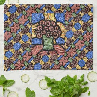 Linge De Cuisine Motif floral moderne coloré