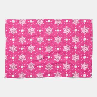 Linge De Cuisine Motif rose et blanc Girly de Noël de flocons de