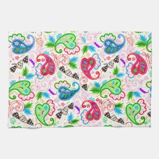 Linge De Cuisine Motifs de fleurs décoratifs colorés mignons