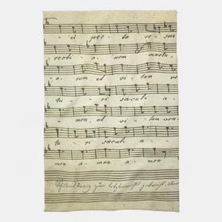 Linge De Cuisine Musique de feuille vintage, illustration musicale
