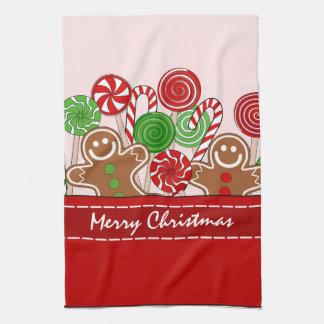 Linge De Cuisine Pains d'épice rouges mignons de Noël