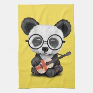 Linge De Cuisine Panda de bébé jouant la guitare anglaise de