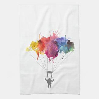Linge De Cuisine Parachutiste, parachute. Sport de parachutisme.