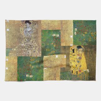 Linge De Cuisine Peinture classique de Klimt d'art
