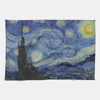 Linge De Cuisine Peinture de Vincent van Gogh de nuit étoilée