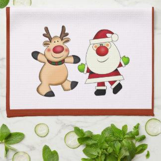 Linge De Cuisine Père Noël et vacances de Noël de renne