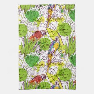 Linge De Cuisine Perroquets tropicaux
