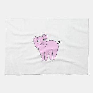 Linge De Cuisine Petit porcin mignon, porc de bébé - noir rose