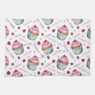 Linge De Cuisine Petits gâteaux d'aquarelle