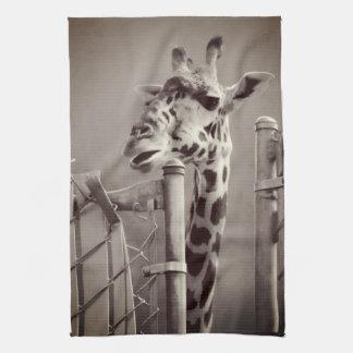 Linge De Cuisine Photographie de girafe - style vintage