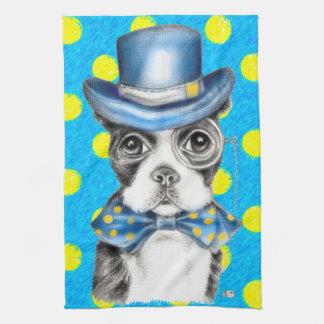 Linge De Cuisine Point de polka de Boston Terrier