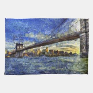 Linge De Cuisine Pont de Brooklyn Van Gogh