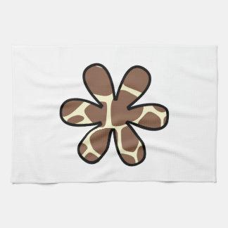 Linge De Cuisine Poster de animal, girafe, fleur - jaune de Brown