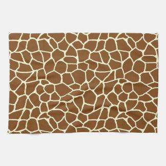 Linge De Cuisine Poster de animal sauvage de motif de girafe
