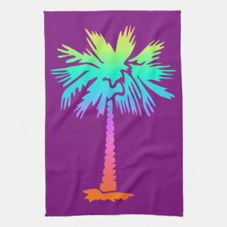 Linge De Cuisine pourpre coloré lumineux d'été tropical au néon de