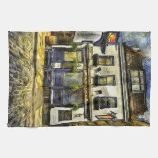 Linge De Cuisine Pub Londres Van Gogh de fleur printanière