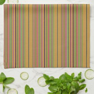 Linge De Cuisine Rayures multicolores