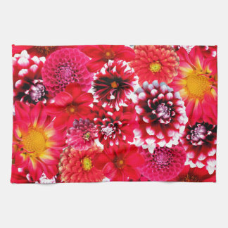 Linge De Cuisine Red flowers