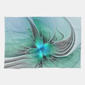 Linge De Cuisine Résumé avec l'art bleu et moderne de fractale