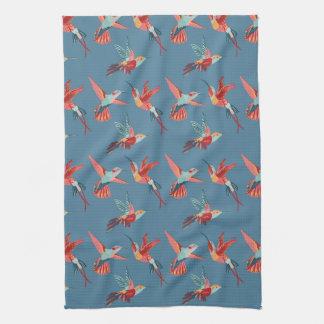 Linge De Cuisine Rétro motif de colibri