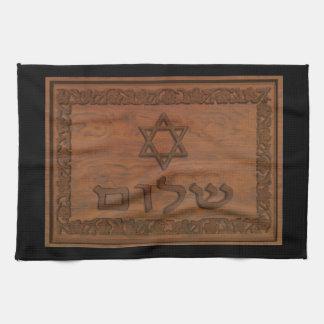 Linge De Cuisine Shalom en bois découpé