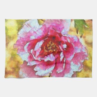 Linge De Cuisine Style rose de Van Gogh de pivoine