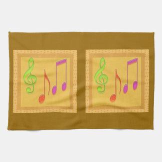 Linge De Cuisine Symboles de musique bas d'or de danse