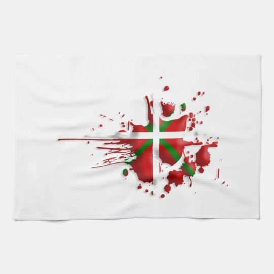 Linge De Cuisine tâche drapeau Basque Euskadi