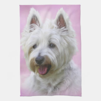 Linge De Cuisine Terrier blanc de montagne occidentale adorable