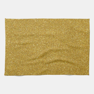 Linge De Cuisine Texture de scintillement d'or