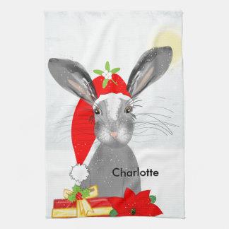 Linge De Cuisine Thème mignon de vacances de Noël de lapin