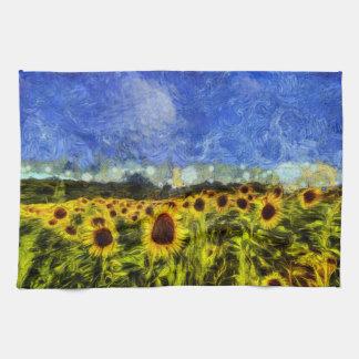 Linge De Cuisine Tournesols de Van Gogh
